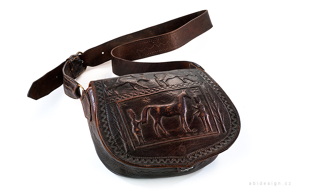 Fotografie, kožená taška
