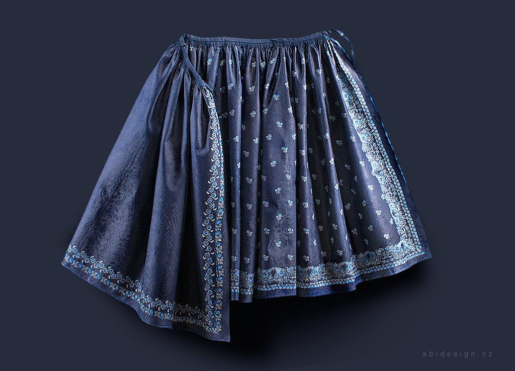 Fotografie damaškové sukně