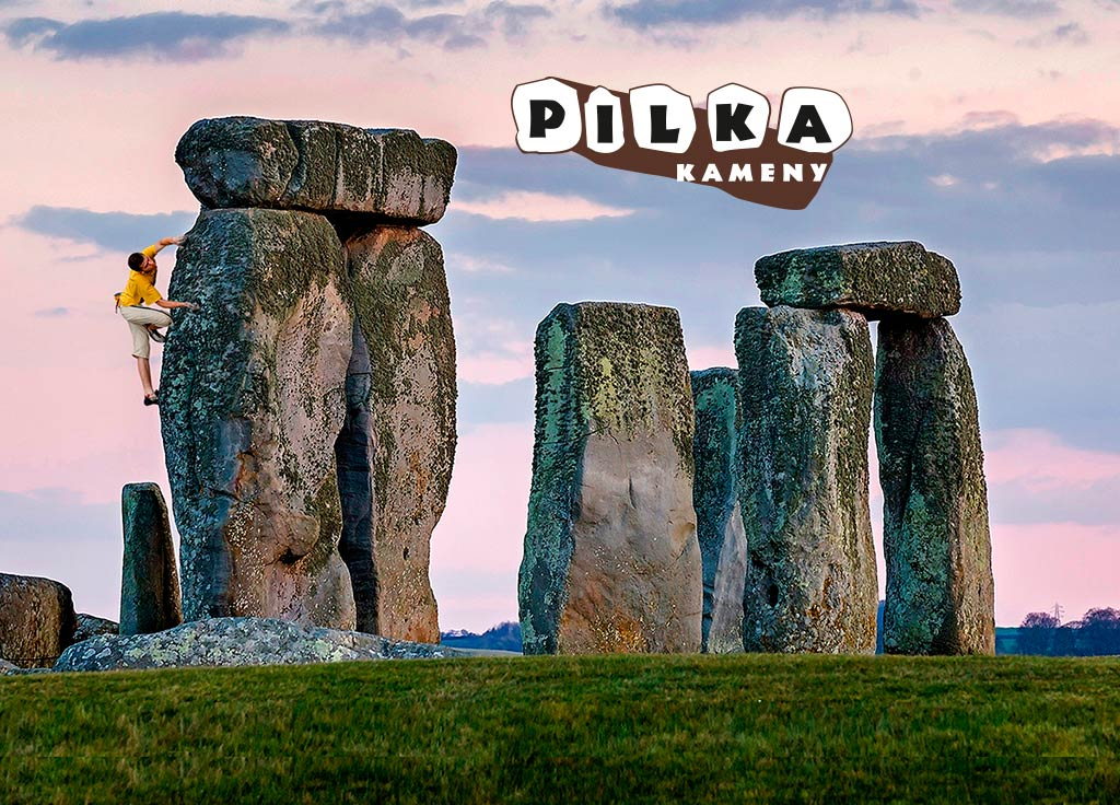 Reklamní montáž Pilka kameny